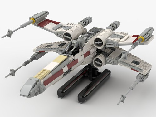 T-65 Incom X-Wing Starfighter 1s=f Red Five: Stand