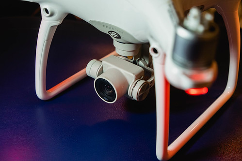 Close up of drone camera