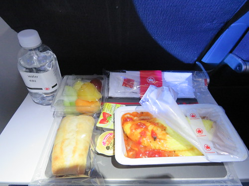 A delicious breakfast has just been served by Air Canada