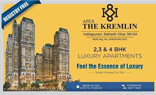 Apex The Kremlin Ghaziabad 2 BHK booking call us: 08010654321