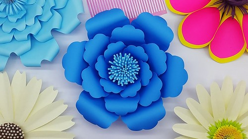 How to Make DIY Paper Flower Easy | My Wedding Backdrop Flowers | Paper Craft