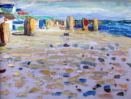 IMG_2019 Wassily Kandinsky  1866-1944 Hollande, fauteuils de plage  Holland Strandkörbe  Holland, beach chairs  1904 München Lenbachhaus