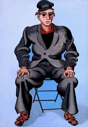 IMG_2001 Jean Hélion 1904-1987 Paris Sitzender Mann L'homme assis Seated man 1947 München Lenbachhaus