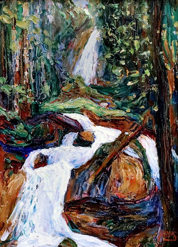IMG_2023 Wassily Kandinsky  1866-1944 Kochel, cascade Kochel Wasserfall I  Kochel, waterfall I  vers 1900 München Lenbachhaus