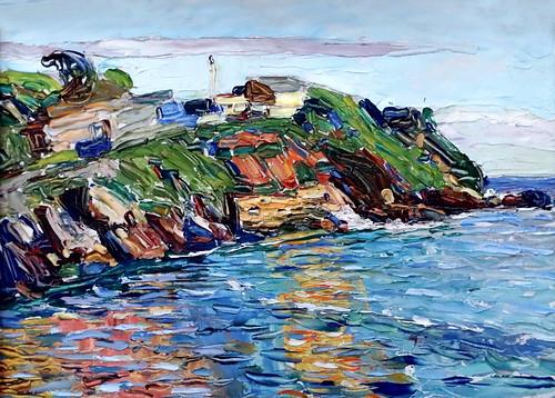 IMG_2016 Wassily Kandinsky 1866-1944 Rapallo, la baie  Rapallo- Bucht.  Rapallo, the bay. 1906 München Lenbachhaus