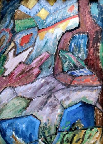 IMG_1992 Gabriele Münter  1877-1962 Murnau Abstrakt Studie N° 6  1915 München Lenbachhaus