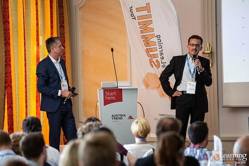 Dr. Roland Sallmann, Österreichischen Städtebund und MBA Walter Khom, bit media e-solutions GmbH im Best Practice-Vortrag
