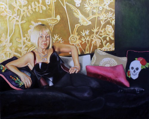 smoke and flowers (cindy gallop)_152cmx122cm_oil on canvas_april 2019