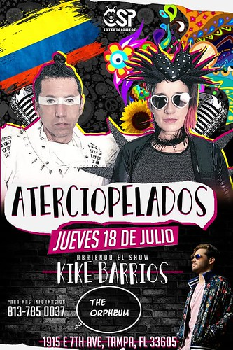 Recording Artist & influencer Kike Barrios is opening a show for Aterciopelados