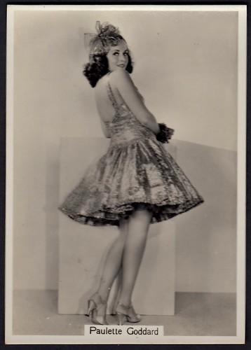 Cigarette Card - Actress, Paulette Goddard