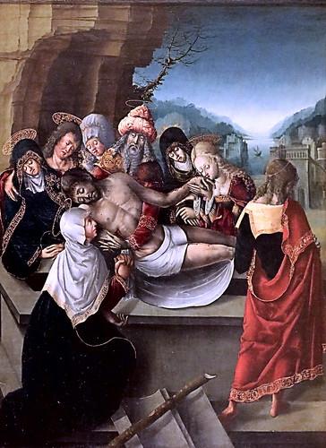 IMG_1200KZX X Bourgogne vers 1520  La Mise au tombeau The Entombment Dijon . Musée des Beaux Arts