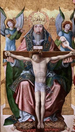 IMG_1200KZZ X Champagne vers 1500s Retable de Clairvaux. Saints Bernard et Malachie. Baptême du Christ Trinité, Transfiguration Dijon . Musée des Beaux Art