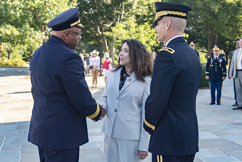 Chief of D.C. Fire and EMS Gregory Dean Participates in an Army Full Honors Wreath-Laying Ceremony at the Tomb of the Unknown Soldier