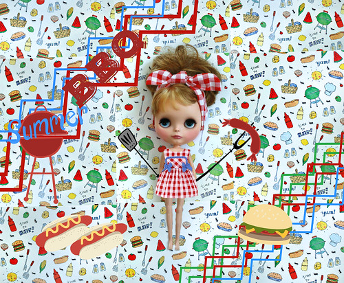 Battle of the BBQ scrapbook paper entries!!  ~