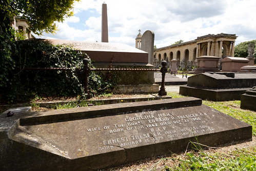 Ernest Thesiger's grave | Brompton Cemetery | June 2019-9