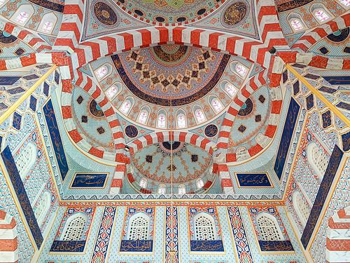 Interior of the Jalil Khayat Mosque in Erbil, Iraqi Kurdistan