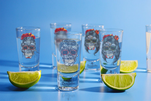 Tequila Don Julio - SPECIAL EDITION SHOT GLASSES by Marv Castillo