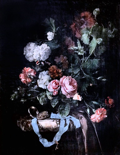 IMG_1242 Jan Davidsz de Heem 1606-1684 Amsterdam Guirlande de fleurs et de fruits Girlande aus Blumen und Früchten Garland of flowers and fruits Schwerin.Staatliches Museum