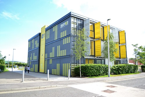 a building made out of shipping containers!
