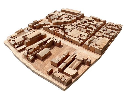 1-500 Wooden Model Of Cork City Centre With The Gaelplex Building