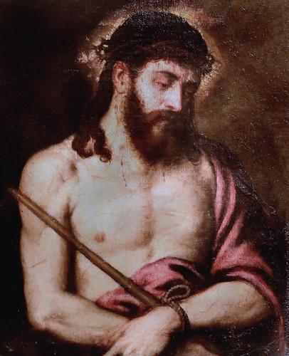 IMG_6690C Tiziano Vecellio 1488-1576 Venise  Ecce Homo  Milan Pinacoteca Ambrosiana Copie  d'époque  Copy of time