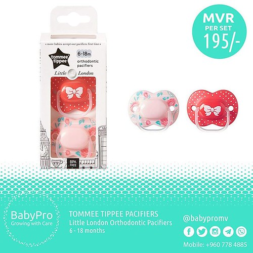 Tommee Little London Pacifiers 06 - 18 Months #TommeeTippee #Tommeetippeepacifiers #funtimes #everyday #nighttime #girldesign #everydaypacifiers #soothing #SleepwellBaby #orthodontic #Babypro #maldives #babypromv #7784885
