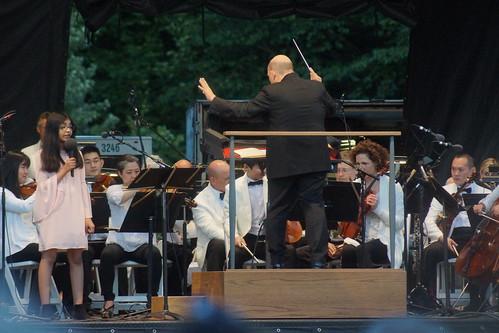 Nilomi Weerakkody with Jaap van Zweden and the New York Philharmonic