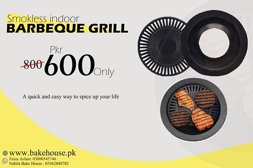 Smokeless barbeque grill