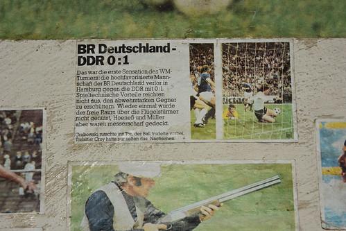 BRD - DDR 0:1 (Überholen ohne einzuholen am 22. Juni 1974 bei der WM-Endrunde in Hamburg)