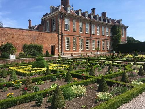 The formal garden at Hanbury Hall