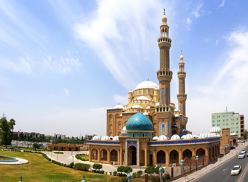 The Jalil Khayat Mosque in Erbil, Iraqi Kurdistan