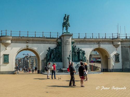 Leopold II statue,  Oostende Belgium