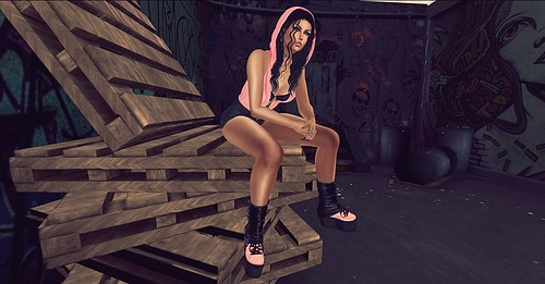 REIGN.- PLATFORM SNEAKERS AND WARMERS / adorsy Tatjana Set (Fameshed Event) / :::Phoenix::: Sandy Hair (Fameshed Event)
