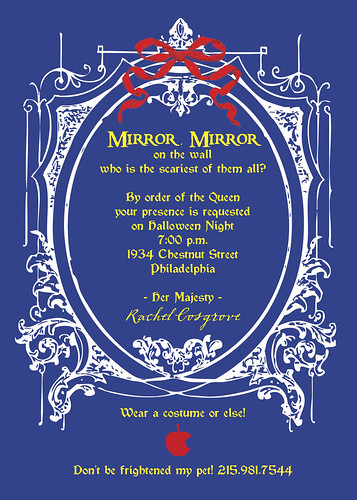 Mirror Mirror - Evil Queen - Halloween or Fairy Tale Invitation - alternative 2