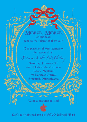 Mirror Mirror - Evil Queen - Halloween or Fairy Tale Invitation - alternative 3