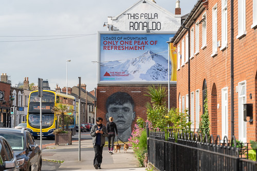 STREET ART ON THE WALLS OF THE BACK PAGE PUB [SPORTS BAR IN PHIBSBOROUGH ROAD]-154096
