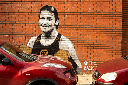 STREET ART ON THE WALLS OF THE BACK PAGE PUB [SPORTS BAR IN PHIBSBOROUGH ROAD]-154099