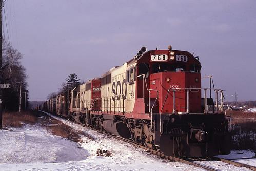 Train 910 at Groos, Michigan - November 29, 1980