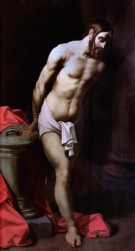 IMG_1136C Gérard Seghers  1591-1651 Anvers  Le Christ à la colonne. Christ at the column. Brou   Musée du Monastère Royal.