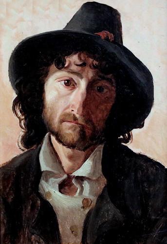 IMG_5897W Jacob Gensler. 1808-1845. Hambourg  Tyrolien Tyrolean Man. 1841.    Hambourg Kunsthalle.