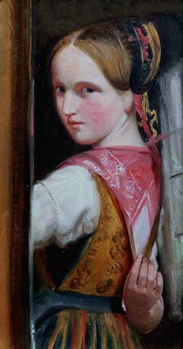 IMG_5897V Jacob Gensler. 1808-1845.Hambourg     Une jeune fille de Blankenese. A Girl from Blankenese. 1837.   Hambourg Kunsthalle.