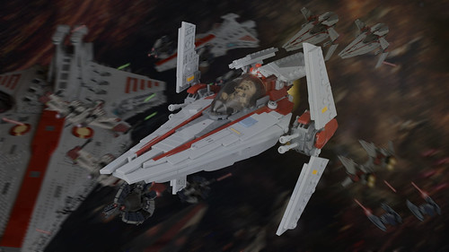V-wing front view
