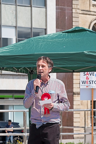 Protest against NHS cuts in Weston-super-Mare, UK