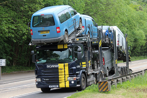 Carlson, Wix KT15 VRD, Scania P-series on Crickley Hill