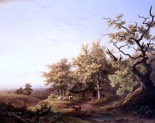 IMG_1185 Louwrens Hanedoes. 1822-1905 Woudrichem (North Brabant) Paysage de la Gueldre  Gelderland landscape. 1848 Hertogenbosch. Het Noordbrabants Museum