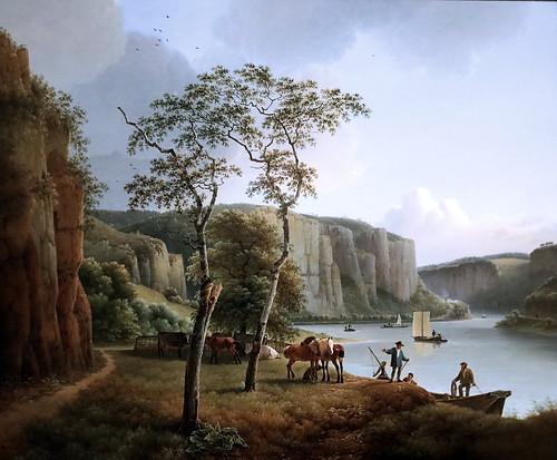 IMG_1143 Joseph Augustus  Knip. 1777-1847. Hertogenbosch, Paris,Rome  Vue de la Meuse à Namur  View of the Maas at Namen. 1819 Hertogenbosch. Het Noordbrabants Museum