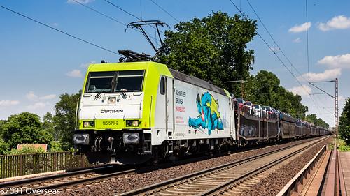 Captrain 185 578 on DGS 46266 at Hannover Waldheim