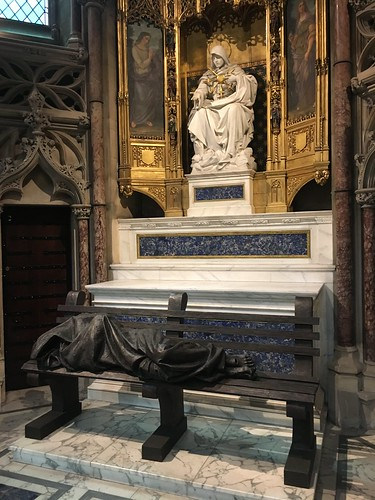 Sculpture. Homeless Jesus in The Jesuit Church of the Immaculate Conception, Mayfair. 169/365