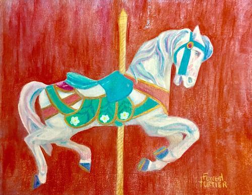 "Vintage ""Carousel"" Horse June CPM challenge #1906 advanced"