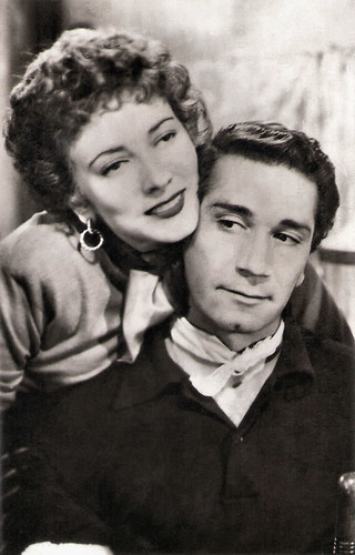 Valentina Cortese and Richard Conte in Thieves' Highway (1949)